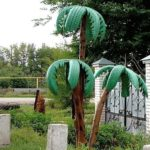 Диковинные пальмы зеленеют даже зимой