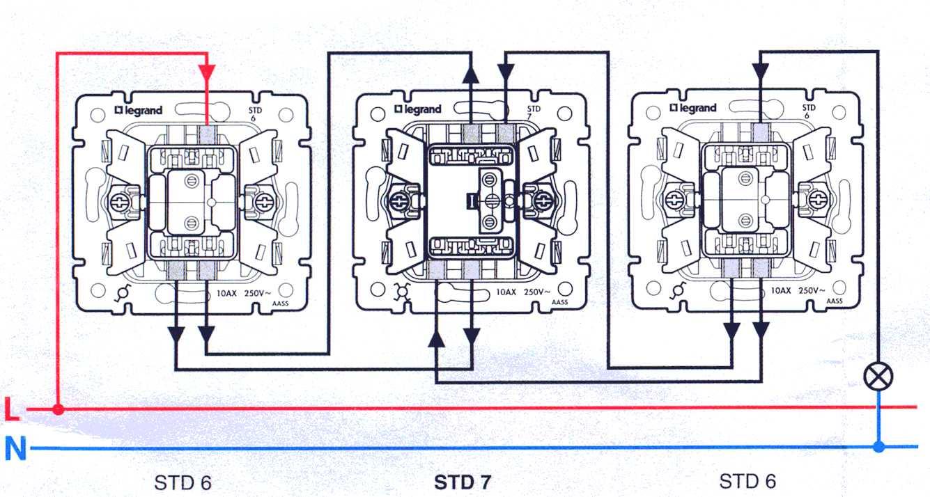 Легранд схемы переключателя