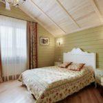Нежно-зеленый в спальне - отличный выбор