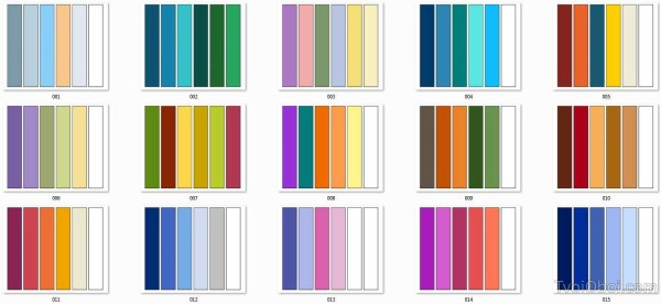 Таблица сочетаемых цветов