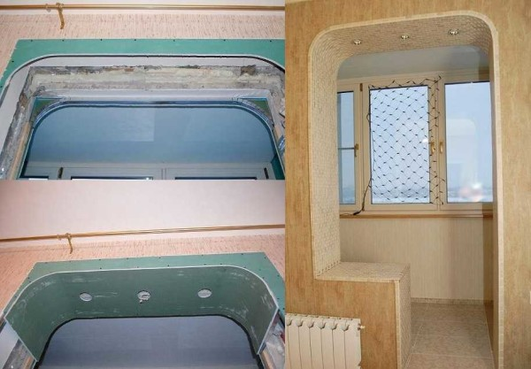 Скругленные углы в стандартных дверных проемах смотрятся лучше крутых арочных изгибов