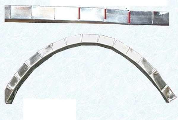 Как нарезать профиль для арки