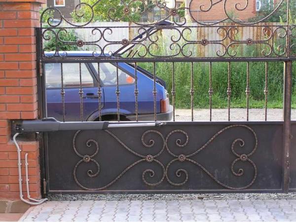 Пример установки линейного механизма для открывания ворот и калиток