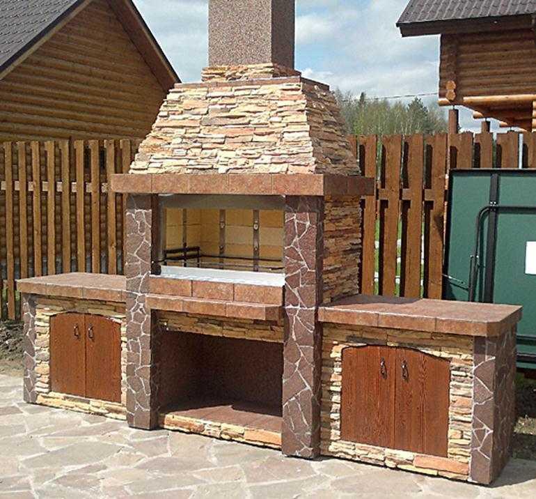 Как построить барбекю из кирпича
