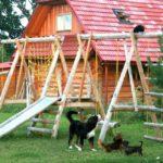 Детская площадка своими руками - фото и идеи для дачи: игровые комплексы, домики