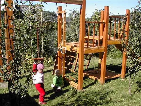 Датская площадка своими руками - место для игр любимых отпрысков на даче или во дворе