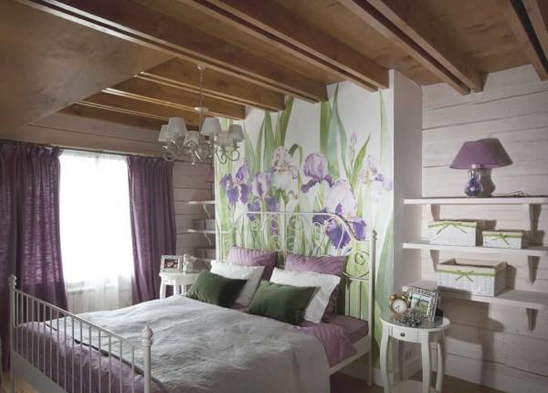 Отличный вариант для деревянных домов или помещений мансардного типа