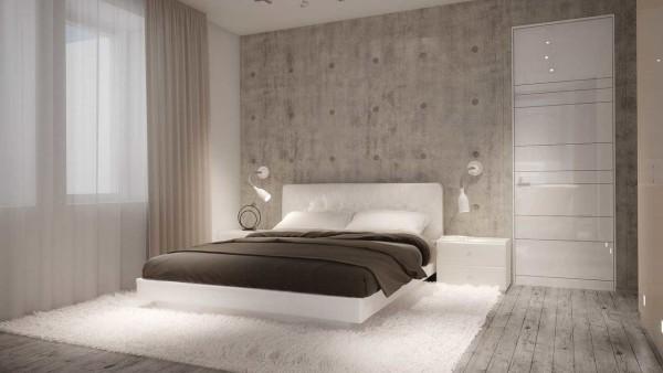 Минимализм в оформлении спальни