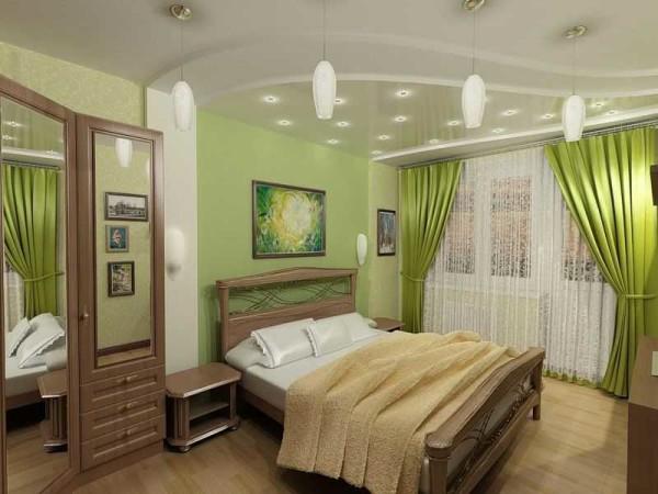 """Зеленая спальня - требуется осторожность, чтобы не """"пережать"""" с зеленью"""