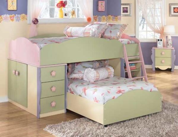 Выкатная двухэтажная кровать для детей безопаснее