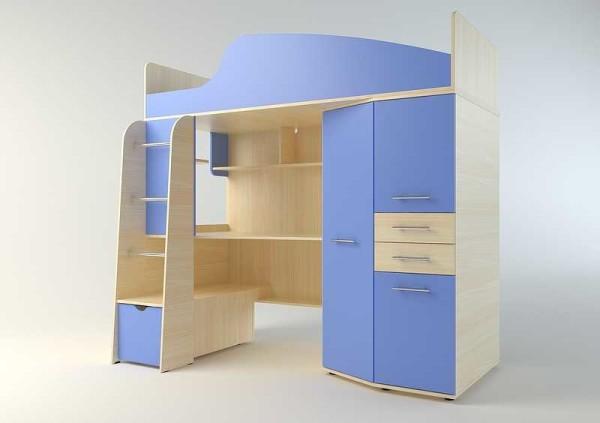 Двух этажная кровать-чердак - отличный выход для небольшого помещения или соперничающих детей
