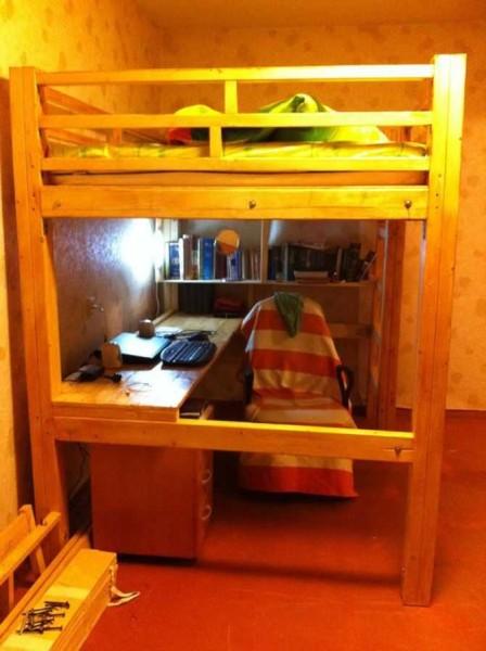 Двухъярусная кровать: своими руками сделать можно