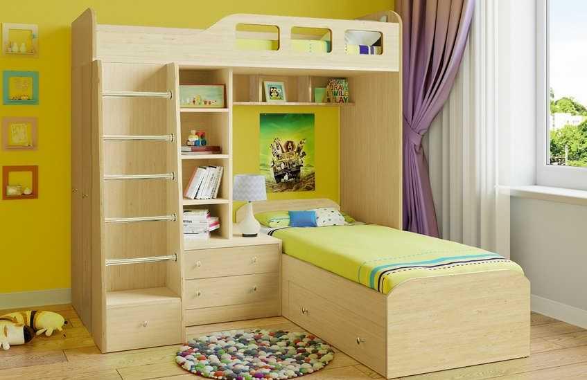 Угловое расположение спальных мест