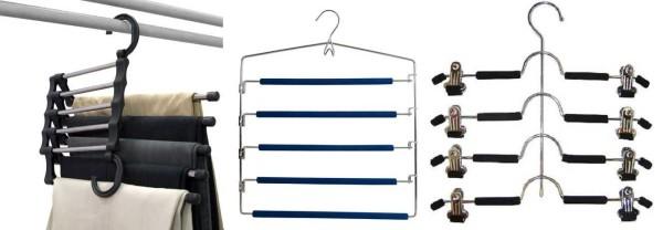 Бюджетный вариант вешалок для брюк и юбок