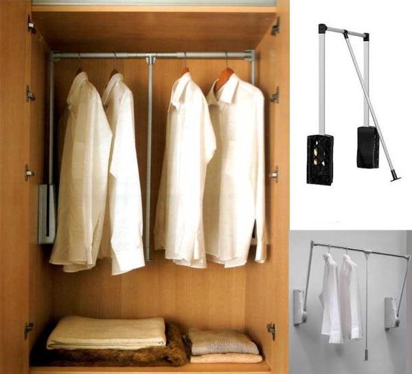 Мебельный пантограф - для легкой (по весу) одежды