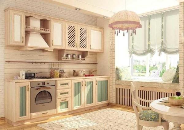 Филенчатая мебель для кухни: один из примеров