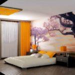 Фотообои для спальни выбирать нужно в в рекомендованной гамме, чтобы они сочетались с фоном остальных стен и другими предметами интерьера