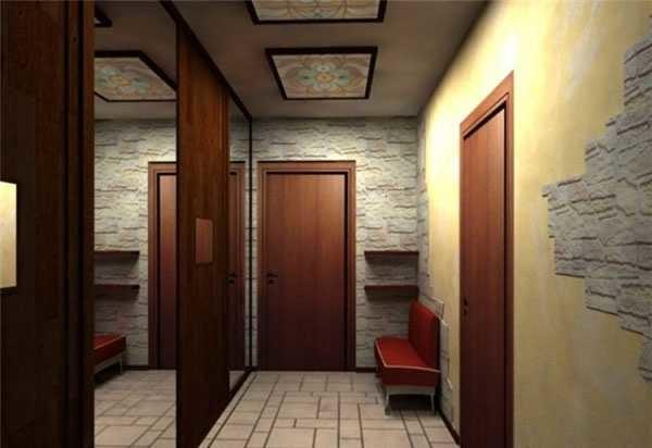 Занять под мебель в узкой прихожей самую длинную стену - правильное решение
