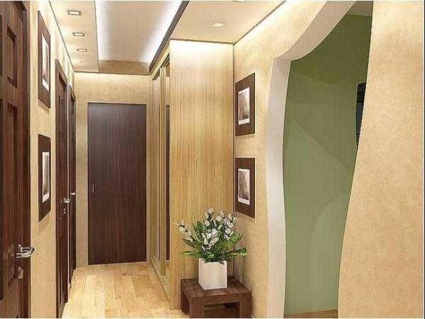 Стены с легким глянцем дают иллюзию большего объема