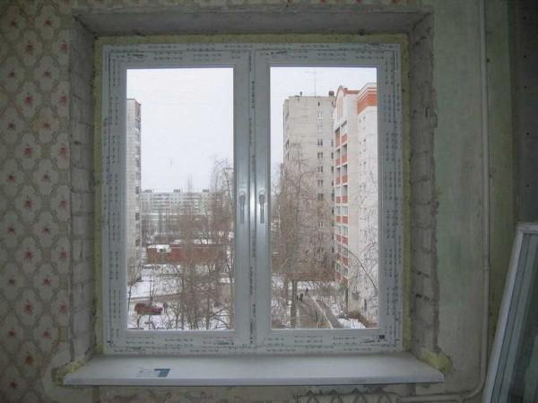 Картина после установки ПВХ окна