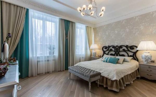 Двойные шторы в спальне - новые идеи в дизайне окон