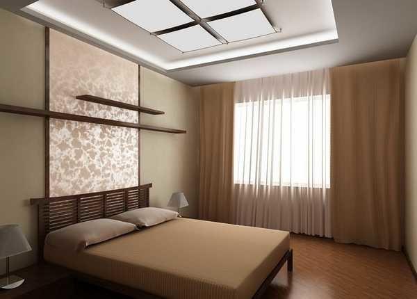 """Классика на окнах применима и в спальнях стиля """"минимализм"""""""