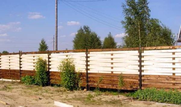 Красивый забор из досок