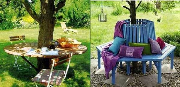 Уголок для отдыха вокруг дерева