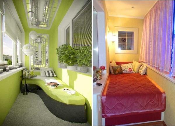 Спальня на балконе - не миф. Подход у каждого свой, но сделать можно