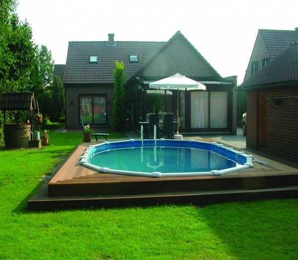 Красивый бассейн на даче своими руками