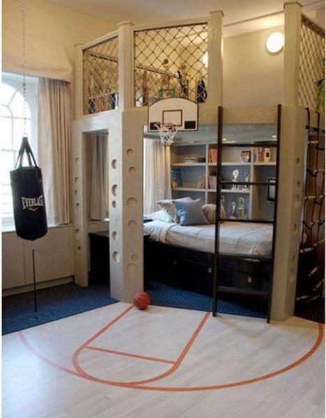 Комната для спортивного молодого человека