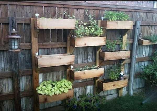Забор можно превратить в вертикальную грядку
