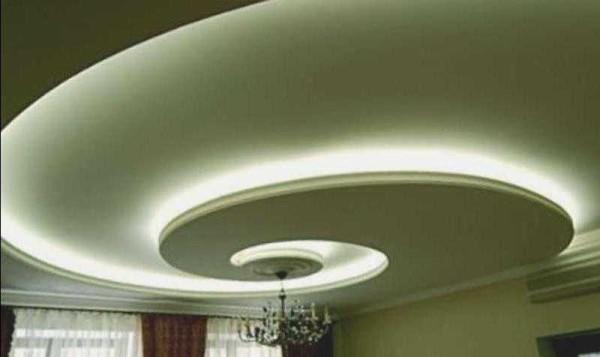 Красивый подвесной потолок из ипсокатрона