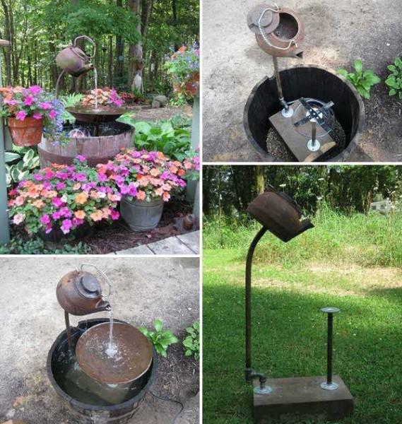 Еще один декоративный садовый фонтан