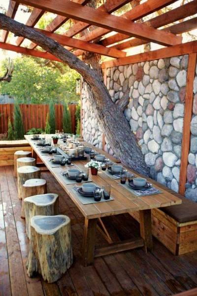 беседки с летней кухней фото