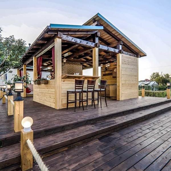 варианты летней кухни на даче фото
