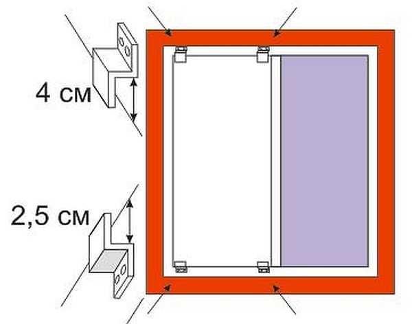 Z-образные кронштейны имеют разную длинну полочек