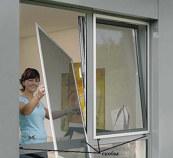Рамочная москитная сетка подходит как для деревянного так и для пластикового окна