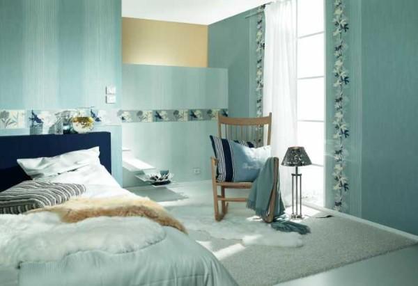 Варианты оклейки стен обоями двух цветов безграничны