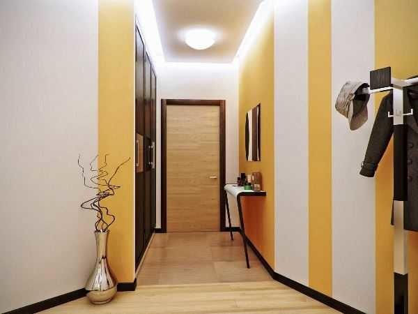 Одна стена полосатая - остальные гладкооокрашенные