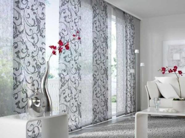 цветные шторы для гостиной фото