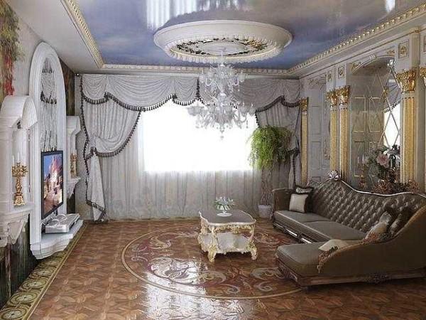 шторы для гостиной в классическом стиле фото