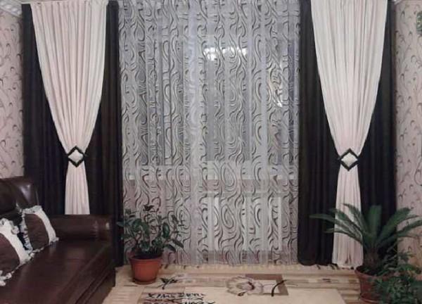современные шторы в гостиную фото без ламбрекена