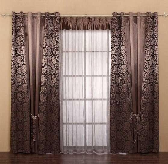 шторы комбинированные для гостиной фото