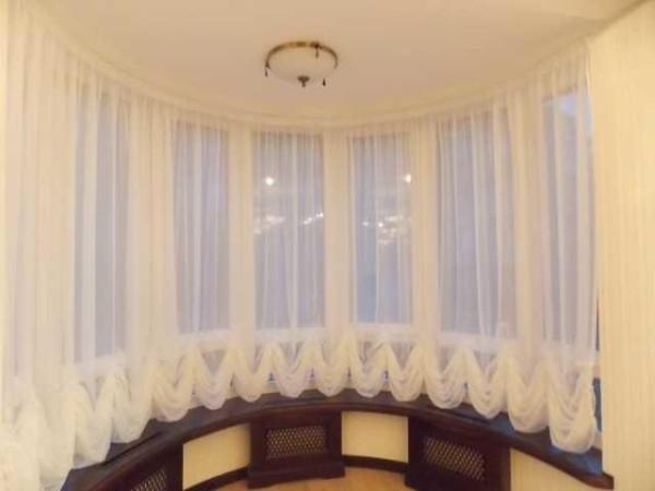 Австрийские шторы - драпировка внизу или вверху