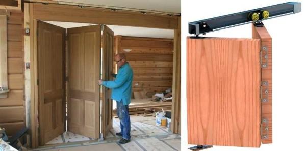 Складные двери-книжка: принципиальное устройство