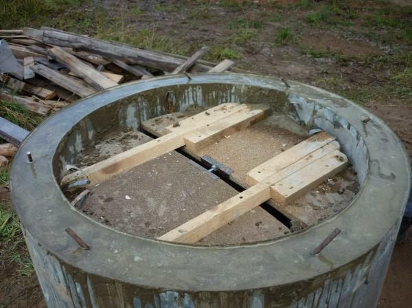 Съемная опалубка для монолитного бетонного колодца