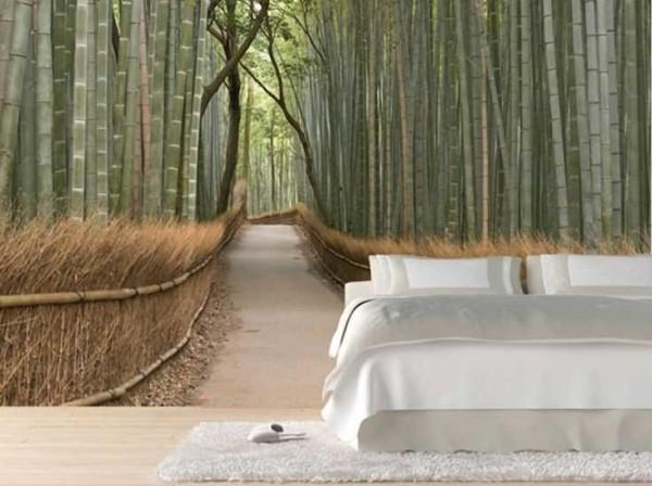 Дорожка в бамбуковом лесу...