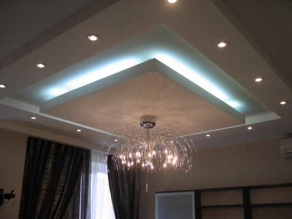 Самые эффектные варианты представляют собой комбинации разных светильников