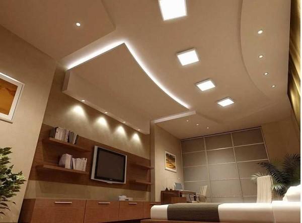 Светодиодная подсветка потолка из гипсокартона - только эффектный дизайнерский прием. Об освещении надо заботиться отдельно